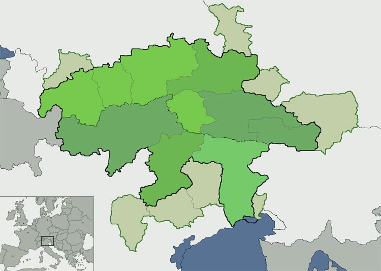 Sudtirol Karte Osterreich Italien.Interreg Iv Italien Osterreich